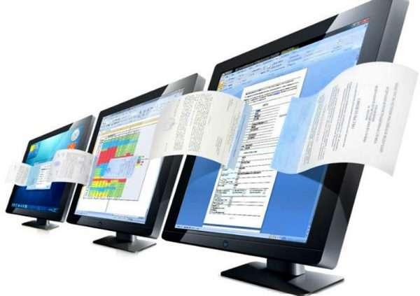 Символическое изображение электронного документооборота