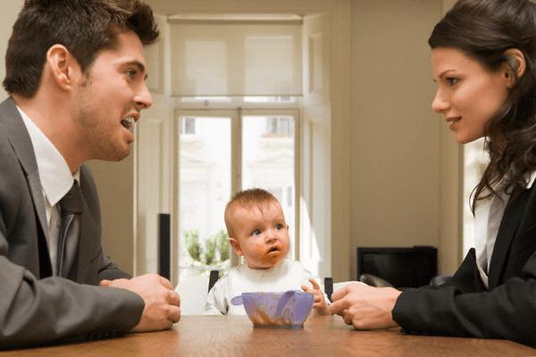 Конфликт супругов при ребёнке