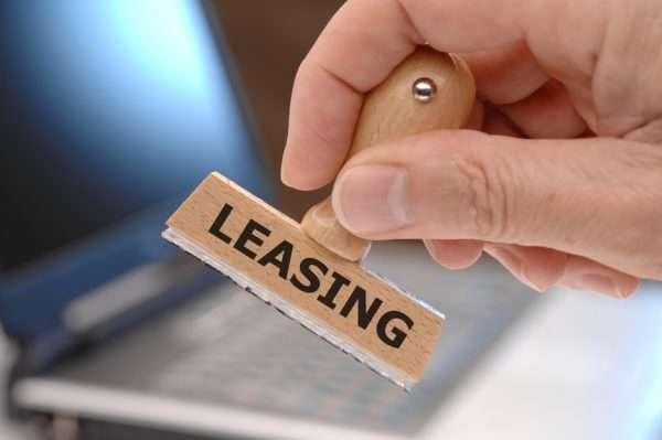 Печать с надписью «leasing»