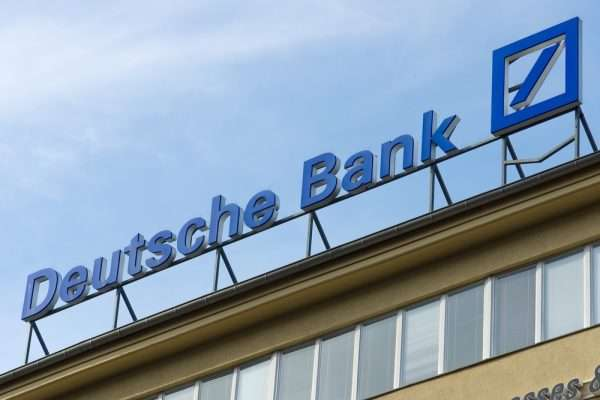 Вывеска банка в Германии