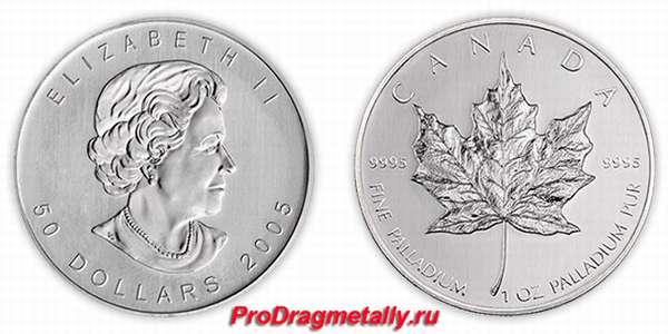 Монета из палладия