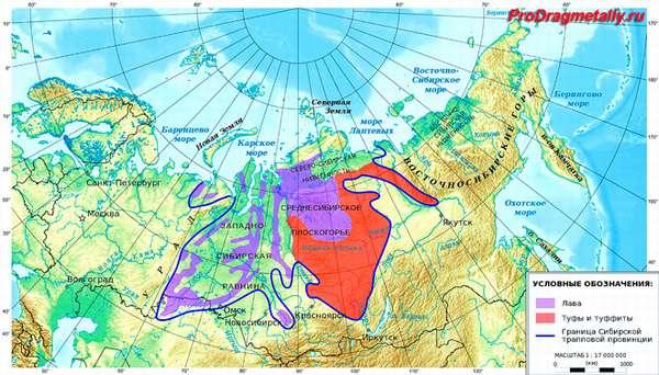 Месторождения золота в России