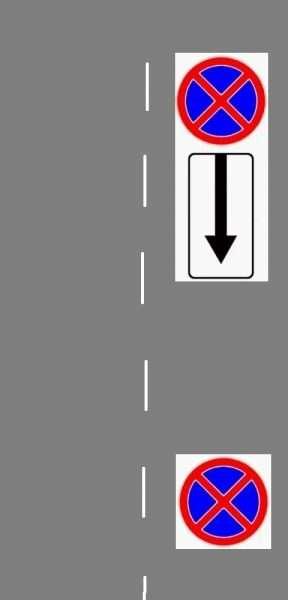 Знаки «ОстЗ» с дополнительной табличкой и без неё
