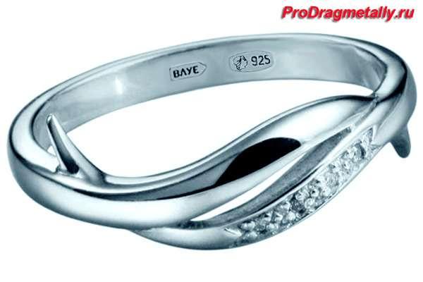 кольцо 925 пробы