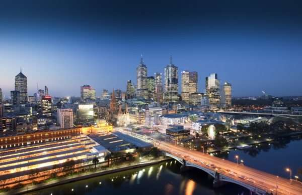 Панорама ночного Мельбурна