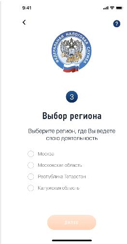 Скриншот 2 приложения «Мой налог»
