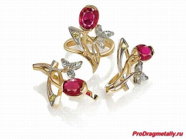 Набор золотых украшений с камнями