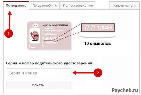 Оплата штрафа по водительскому удостоверению