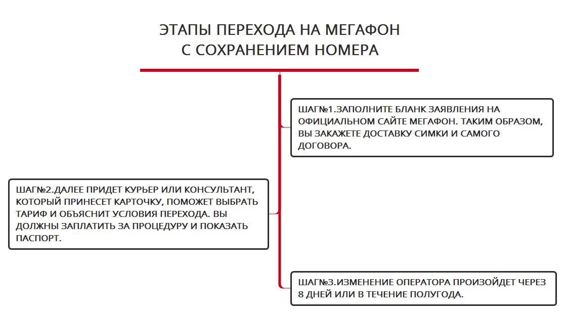 Этапы перехода на Мегафон с сохранением номера