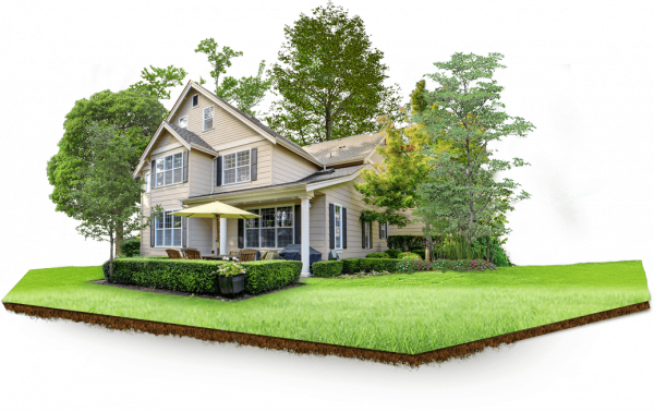 Дом на участке земли