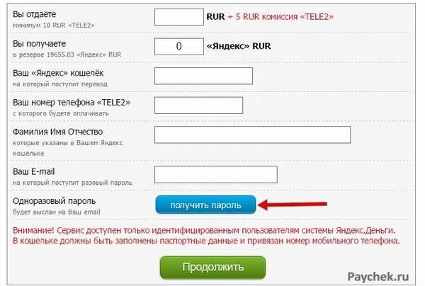 Пополнение Яндекс-Деньги со мобильного счета