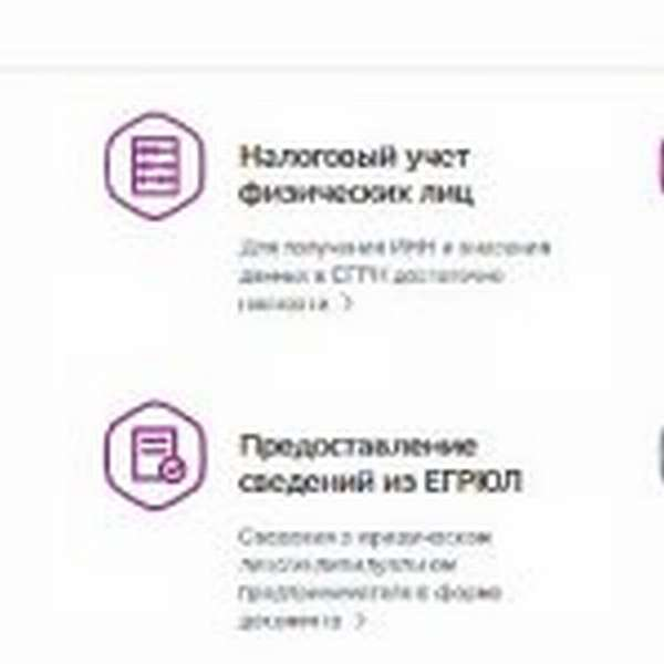 Скрин портала госуслуг, регистрация ИП, шаг № 2