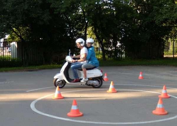 Эзамен на вождение скутера