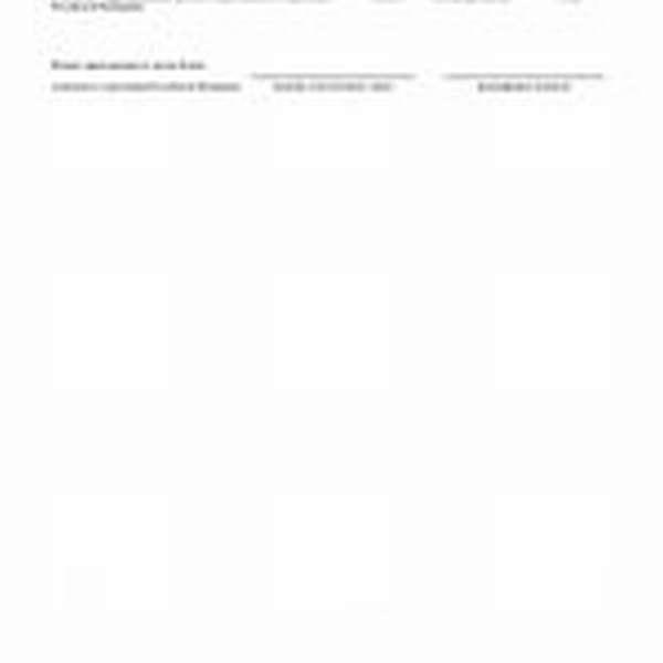 Заполненная вторая страница заявления о подтверждении основного вида экономической деятельности