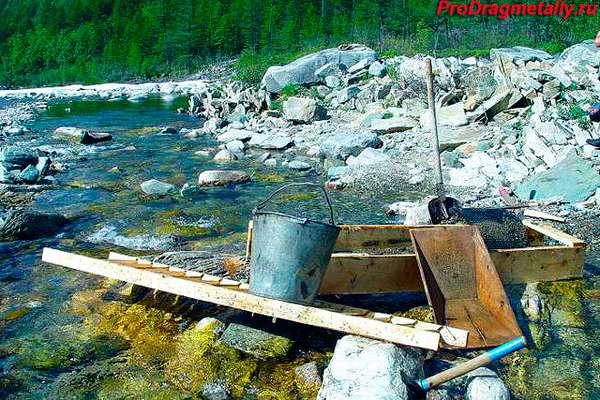 Инструменты для вымывания золота