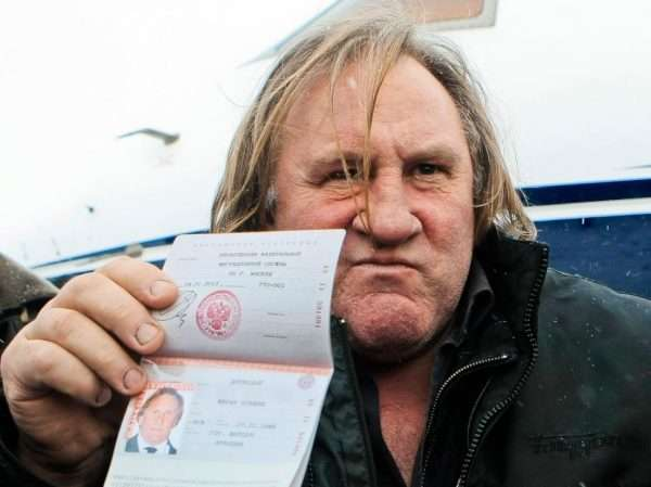 Депардье с паспортом