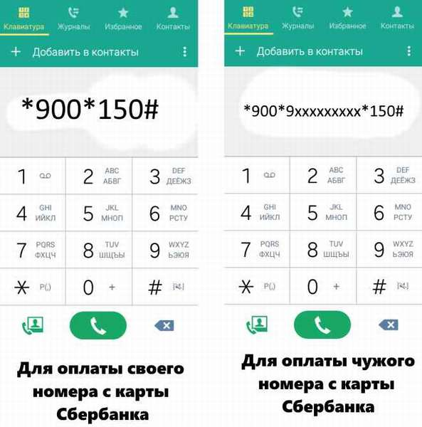 Как закинуть деньги с карты Сбербанка на телефон через USSD-команду