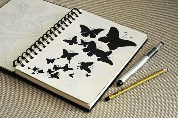 Скетчбук с рисунком