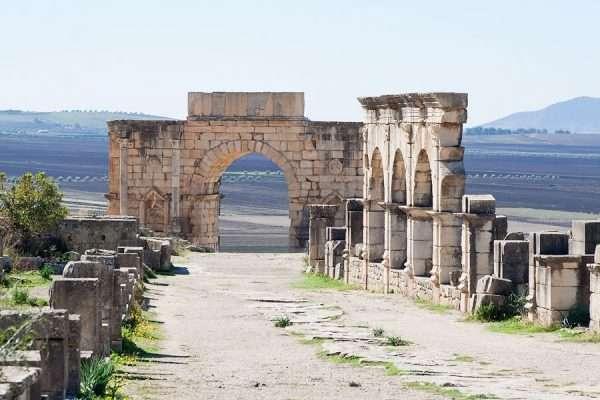 Руины древнего города в Марокко