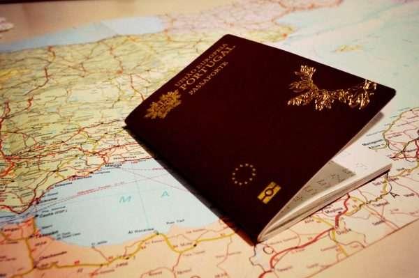Паспорт Португалии на карте Европы