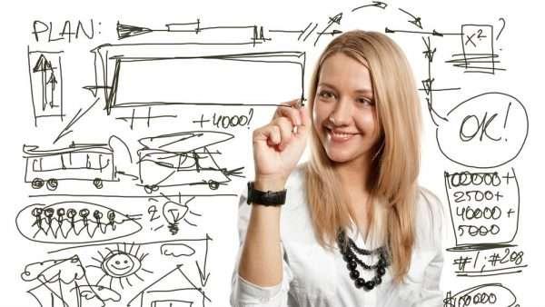 Женщина составляет бизнес-план