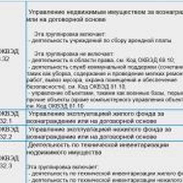подкласс 68.3, код ОКВЭД 68.32