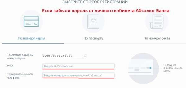 Что делать, если забыл пароль от личного кабинета интернет-банка Абсолют