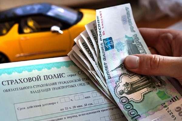 Страховой полис и деньги в руках у мужчины