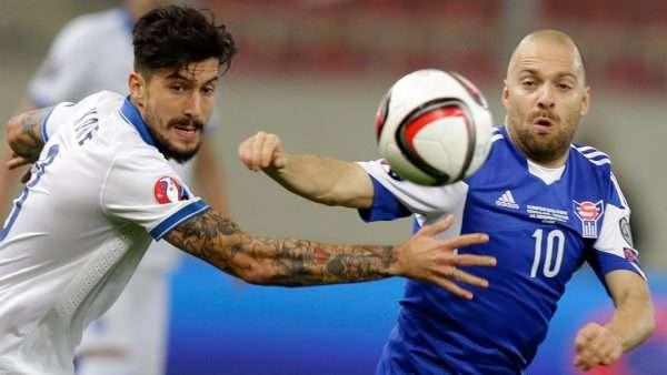 Матч сборной Греции по футболу