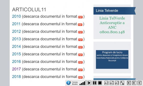 Сайт Министерства юстиции Румынии