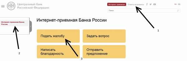 Жалоба в Центральный банк