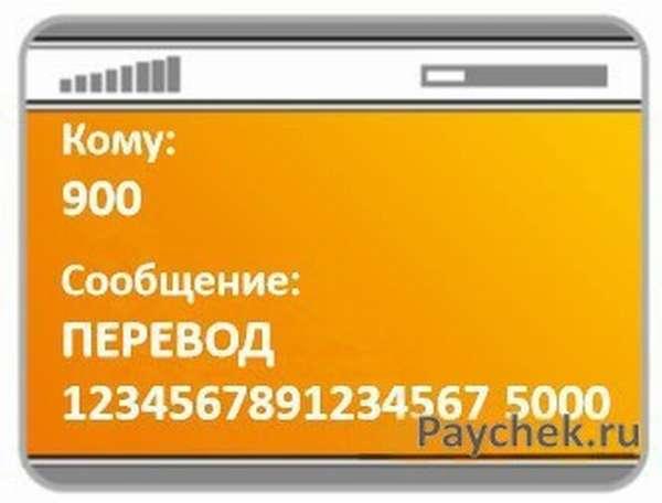 Перевод денег через СМС по номеру карты в Сбербанке