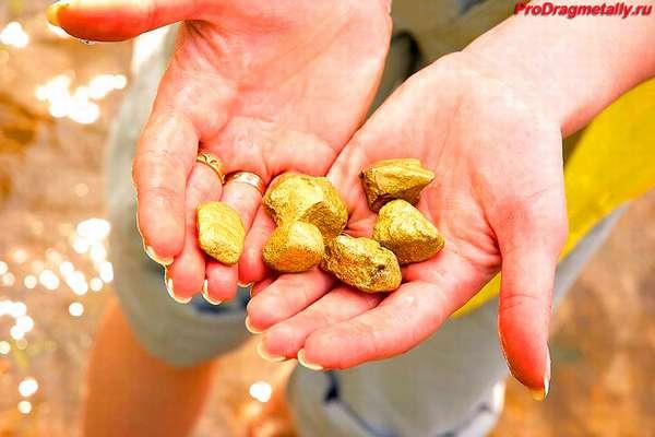 Золото в чистом виде в руках