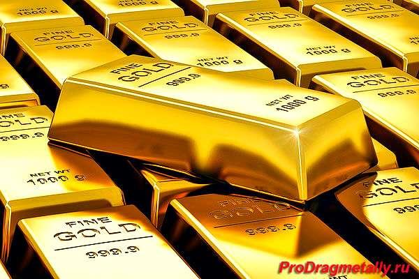 слитки золота 1000 г